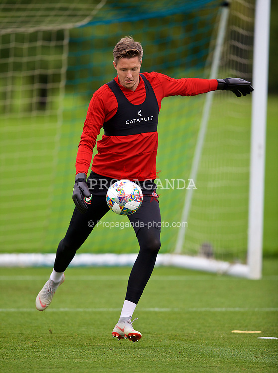CARDIFF, WALES - Tuesday, September 4, 2018: Wales' goalkeeper Wayne Hennessey during a training session at the Vale Resort ahead of the UEFA Nations League Group Stage League B Group 4 match between Wales and Republic of Ireland. (Pic by David Rawcliffe/Propaganda)