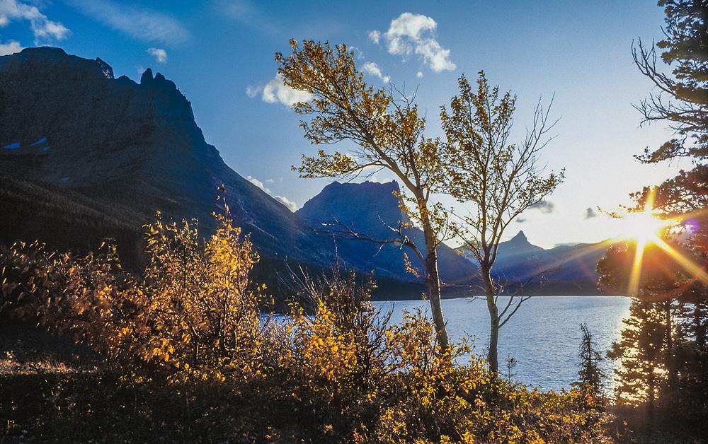 Lake Saint Mary, autumn, Glacier National Park, Montana, USA