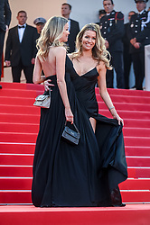 """Twin sisters Nicole and Barbara Kimpel arrive for the screening of """"Pain And Glory"""" during the 72nd annual Cannes Film Festival on May 17, 2019 in Cannes, France. Photo by Ammar Abd Rabbo/ABACAPRESS.COM"""