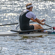 NZL M1x Mahé DRYSDALE – 2nd place 6:37.85 SUN 31 AUG 2014<br /> <br /> Crews racing the World Championships on The Bosbaan, Amsterdam, The Netherlands, 29/30/31 August 2014  Copyright photo © Steve McArthur / @rowingcelebration www.rowingcelebration.com