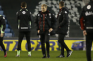 Eddie Howe, the Bournemouth manager looking dejected after full time. The Emirates FA Cup 3rd round match, Millwall v AFC Bournemouth at The Den in London on Saturday 7th January 2017.<br /> pic by John Patrick Fletcher, Andrew Orchard sports photography.