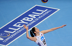 09-01-2016 TUR: European Olympic Qualification Tournament Rusland - Nederland, Ankara<br /> De strijd om Rio of Japan / Tatiana Kosheleva #15 of Rusland