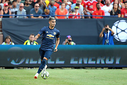 July 28, 2018 - Ann Arbor, Michigan, United States - Andreas Pereira (15) of Manchester United looks to pass the ball during an International Champions Cup match between Manchester United and Liverpool at Michigan Stadium in Ann Arbor, Michigan USA, on Wednesday, July 28,  2018. (Credit Image: © Amy Lemus/NurPhoto via ZUMA Press)