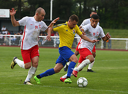 May 31, 2018 - London, United Kingdom - Alex Svedjuk of Karpatalya (Middle).during Conifa Paddy Power World Football Cup 2018  Group B match between Northern Cyprus against Karpatalya at Queen Elizabeth II Stadium (Enfield Town FC), London, on 31 May 2018  (Credit Image: © Kieran Galvin/NurPhoto via ZUMA Press)