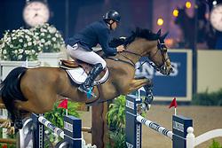 Gulliksen Geir, NOR, Edesa S Banjan<br /> World Cup Final Jumping - Las Vegas 2015<br /> © Hippo Foto - Dirk Caremans<br /> 18/04/2015