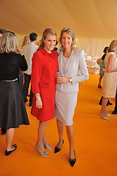 Left to right, the HON.ELIZA PEARSON and VISCOUNTESS COWDRAY at the 2009 Veuve Clicquot Gold Cup Polo final at Cowdray Park Polo Club, Midhurst, West Sussex on 19th July 2009.