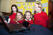 Rebecca Tighe, Amalia, Hynesburgh, Caoimhe Griffin and Tilly Howard Buaile Beag NS at the Galway Education centre's Junior First Lego League at the Radisson Blu hotel. Photo:Andrew Downes, xposure.