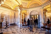 Interior shots of the Marmorpalais Marble Palace, showing the intricate gilding and details. The Palace was designed by Carl von Gontard and Carl Gotthard and is in the Neoclassical style, Potsdam, Brandenburg, Germany.