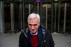 © Licensed to London News Pictures. 17/01/2016. London, UK. Labour Shadow Chancellor JOHN MCDONNELL leaves BBC Broadcasting House in London. Photo credit: Ben Cawthra/LNP