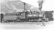 """RGS 2-8-0 #17 switching at Durango.<br /> RGS  Durango, CO  Taken by Perry, Otto C. - 6/7/1923<br /> In book """"Southern, The: A Narrow Gauge Odyssey"""" page 10<br /> Also in """"RGS Story Vol. XI"""", p. 175; """"RGS Story Vol. XII"""", p. 39 (enlarged) and """"Silver San Juan"""", p. 200.<br /> Same as RD155-029 and RDS155-159."""