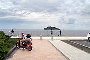 at Umikaze park, Yokosuka with Tokyo Bay and Sarushima Island