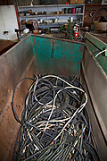 Wire casing at Recycling Center, Los Angeles, California, USA