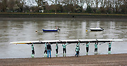 Putney, Greater London. 16 February 2020, Goldie, Going afloat, Pre Boat Race Fixture, Various Cambridge University Women's Boat Club, Crews with Fixtures vs Henley RC and Tideway Scullers School, Main event CUWBC vs ASR Nereus Rowing Club  Championship Course, Putney to Mortlake, River Thames, [Mandatory Credit: Peter SPURRIER/Intersport Images],