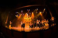 Thai classical puppetry show (Aksra Hoon Lakorn Lek), Aksra Theatre, Bangkok, Thailand