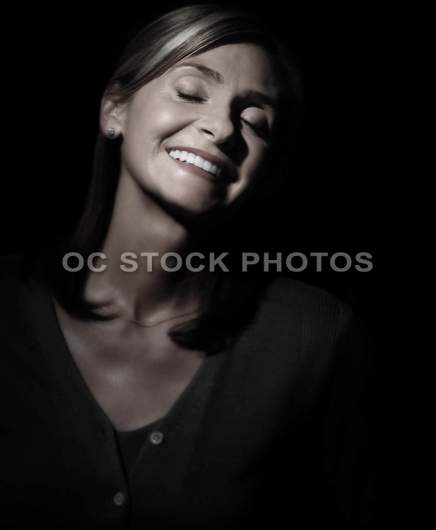 Peaceful Happy Woman Smiling