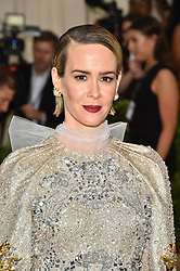 Sarah Paulson attending the Costume Institute Benefit at The Metropolitan Museum of Art celebrating the opening of Heavenly Bodies: Fashion and the Catholic Imagination. The Metropolitan Museum of Art, New York City, New York, May 7, 2018. Photo by Lionel Hahn/ABACAPRESS.COM