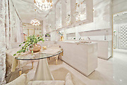 "Inside the Worlds Luxury Yacht  for WOMEN, with Swarovski Crystal chandeliers , gold mosaics ice fountains and a spa all a woman could want for Valentines day... for the rich of course!<br /> <br /> Luxury designer Lidia Bersani has created the first Luxury mega yacht for women in mind.<br /> <br /> The white and gold yacht measuring 262ft, is for women buyers and is designed using crystal, gold fur and flowers, named LA BELLE, which means  ""the beauty""<br /> <br /> the yacht can sleep 12 guests in six luxury cabins, the spa area with hydromassage pool, harman, infrared sauce, snow room and ice fountains, fitness club ,beauty centre , nightclub, cinema and bars.<br /> <br /> ""the Idea is to equip the super yacht with ultra modern stabilizing system and state of the art machinery and equipment"" says Lidia Bersani of Luxury design.<br /> <br /> Each deck has an outside area for sun bathing , and looking out to sea.<br /> A helicopter pad sits on top of the yacht, all the luxury a woman could want...<br /> <br /> Photo shows; La Belle<br /> ©Luxury design/Exclusivepix Media"