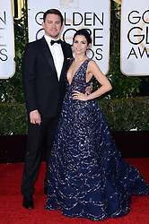 Actor Channing Tatum (L) and actress Jenna Dewan Tatum attending the 73rd Annual Golden Globe Awards held at the Beverly Hilton Hotel in Los Angeles, CA, USA, January 10, 2016. Photo by Lionel Hahn/ABACAPRESS.COM