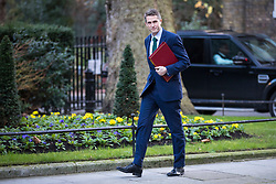 © Licensed to London News Pictures. 16/01/2018. London, UK. Defence Secretary Gavin Williamson arrives on Downing Street for the weekly Cabinet meeting. Photo credit: Rob Pinney/LNP