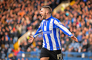 Sheffield Wednesday Forward Gary Hooper celebrates his 2nd goal during the Sky Bet Championship match between Sheffield Wednesday and Leeds United at Hillsborough, Sheffield, England on 16 January 2016. Photo by Adam Rivers.