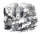 Mosely Hall From the book The wanderings of a pen and pencil by Palmer, F. P. (Francis Paul); Illustrated by Crowquill, Alfred, [Alfred Henry Forrester]  Published in London by Jeremiah How in 1846