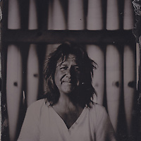 Mark Richey, pianist and organist, tintype portrait made with wetplate collodion process.