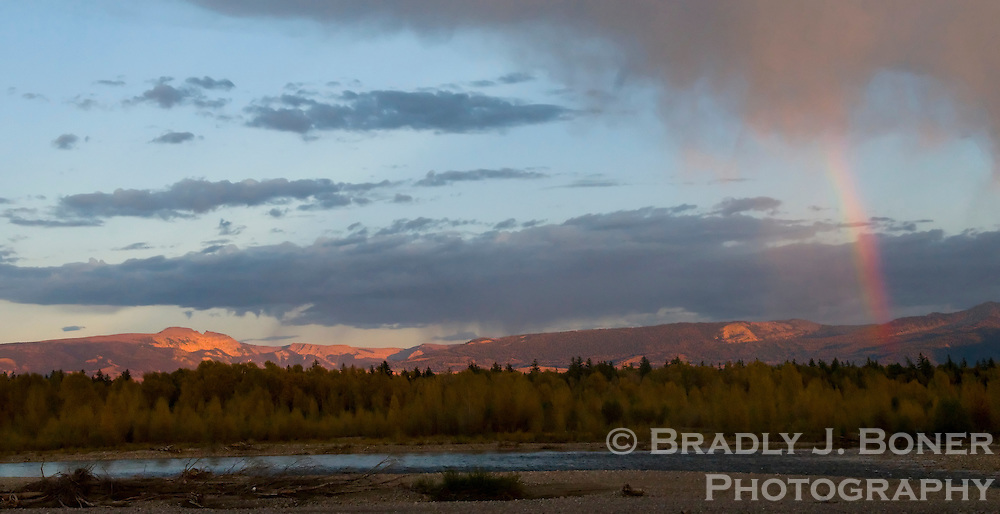 Sleeping Indian and the Snake River, Jackson Hole, Wyo.