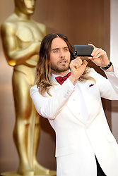 Jared Leto arriving to the 2014 Oscars at the Hollywood and Highland Center in Hollywood, California, USA,  Sunday, 2nd March 2014. Picture by Hollywood Bubbles / i-Images<br /> UK ONLY