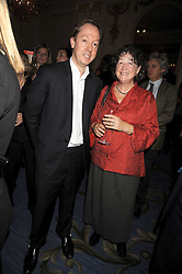 GEORDIE GREIG editor of Tatler and restaurant critic FAY MASCHLER at the 2009 Tatler Restaurant Awards in association with Champagne Louis Roederer held at the Mandarin Oriental Hyde Park, 66 Knightsbridge, London SW1 on 19th January 2009.