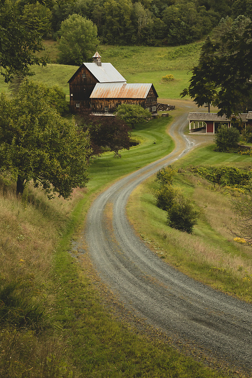 The winding pathway leading to Sleepy Hollow Farm in Vermont.
