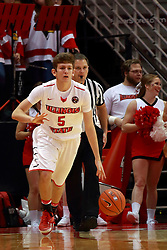 05 November 2016:   Matt Hein(5) during an NCAA  mens basketball game where the Quincy Hawks lost to the Illinois State Redbirds in an exhibition game at Redbird Arena, Normal IL
