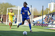 AFC Wimbledon defender Toby Sibbick (20) during the EFL Sky Bet League 1 match between Oxford United and AFC Wimbledon at the Kassam Stadium, Oxford, England on 13 April 2019.