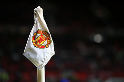Detail of the corner flag at Old Trafford