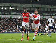 Arsenal's Danny Welbeck celebrates scoring his sides opening goal<br /> <br /> Barclays Premier League- West Bromwich Albion vs Arsenal - The Hawthorns - England - 29th November 2014 - Picture David Klein/Sportimage
