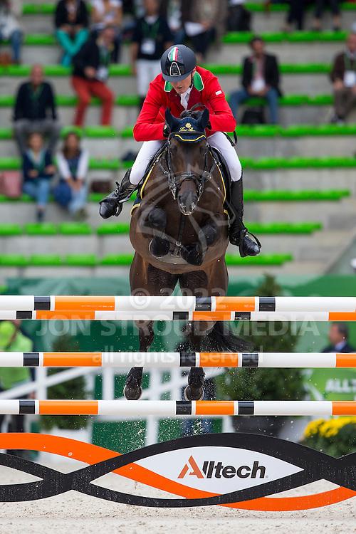 Fabio Brotto, (ITA), R Gitana - Team & Individual Competition Jumping Speed - Alltech FEI World Equestrian Games™ 2014 - Normandy, France.<br /> © Hippo Foto Team - Leanjo De Koster<br /> 02-09-14