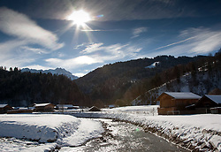 03.02.2011, Garmisch Partenkirchen, GER, FIS Alpine World Championships Garmisch Partenkirchen, Vorberichte, im Bild Preview images for the 2011 Alpine skiing World Championships. A general view of the river and fields in Garmisch, EXPA Pictures © 2011, PhotoCredit: EXPA/ M. Gunn