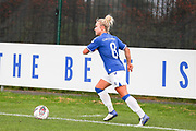 Everton midfielder Issy Christiansen (8) with the ball during the FA Women's Super League match between Everton Women and Brighton and Hove Albion Women at the Select Security Stadium, Halton, United Kingdom on 18 October 2020.