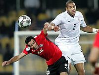 Fotball<br /> 21.06.2009<br /> Confederations Cup<br /> Egypt v USA<br /> Foto: Gepa/Digitalsport<br /> NORWAY ONLY<br /> <br /> Bild zeigt Mohamed Aboutrika (EGY) und Oguchi Onyewu (USA)