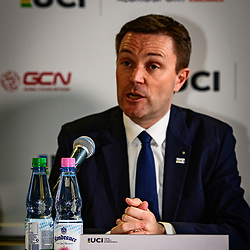 LAPPARTIENT David ( FRA ) – UCI President – Press Conference - Hochformat - hoch - vertikal - Portrait - Event/Veranstaltung: UCI Track Cycling World Championships 2020 – Track Cycling - World Championships - Berlin - Category/Kategorie: Cycling - Track Cycling – World Championships - Elite ... - Location/Ort: Europe – Germany - Berlin - Velodrom Berlin - Discipline: ... - Distance: ... m - Date/Datum: 01.03.2020 – Sunday – Day 5 - Photographer: © Arne Mill - frontalvision.com
