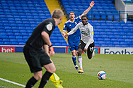Ipswich Town defender Mark McGuiness (2) shouts after being fouled by Peterborough Utd Defender Idris Kanu (19)during the EFL Sky Bet League 1 match between Ipswich Town and Peterborough United at Portman Road, Ipswich, England on 23 January 2021.