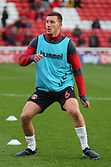 Charlton Athletic defender Jason Pearce (6) in warm up during the EFL Sky Bet League 1 match between Barnsley and Charlton Athletic at Oakwell, Barnsley, England on 29 December 2018.