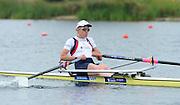 Eton Dorney, United Kingdom.   GBR W1X, Melanie WILSON, moves away from the start pontoon,  Eton Rowing Centre.  Dorney Lake. Friday  21/06/2013 Berkshire.  [Mandatory Credit Peter Spurrier/ Intersport Images]