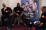 Houston, Texas - February 19, 2016: Dada 5000 waits backstage before his fight against Kimbo Slice during Bellator 149 at the Toyota Center in Houston, Texas on February 19, 2016. (Cooper Neill for ESPN)