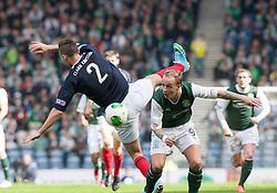 Falkirk's Kieran Duffie and Hibernian's Leigh Griffiths..Hibernian 4 v 3 Falkirk, William Hill Scottish Cup Semi Final, Hampden Park..©Michael Schofield..