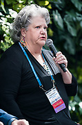 Jacquin Davidson from the Midwest Energy Research Consortium at the Wisconsin Entrepreneurship Conference at Venue 42 in Milwaukee, Wisconsin, Wednesday, June 5, 2019.