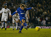 Fotball<br /> England 2004/2005<br /> Foto: BPI/Digitalsport<br /> NORWAY ONLY<br /> <br /> Leeds United v Millwall<br /> Coca Cola Championship. <br /> 19/12/2004.<br /> <br /> Jody Morris fires in from the spot for Millwall, to bring the score all square at 1-1.