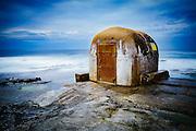 The concrete pumphouse at The Cowrie Hole, Newcastle, Australia