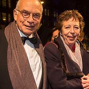 NLD/Amsterdam/20140307 - Boekenbal 2014, Renate Dorresteijn en partner .....