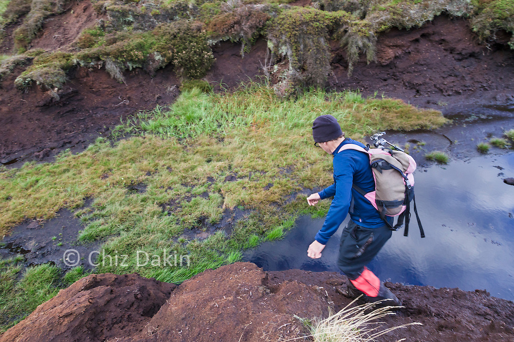 Crossing the most awkward grough involved shuffling down the gentlest mud edge then hoping the bog wasn't too deep when a larger step was required!