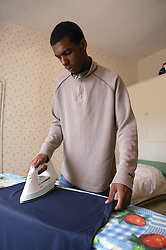 Youth ironing,